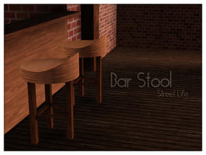 Sims 3 — Barstool Street Life by Kiolometro — Street life, bold and strong. Your Sims enjoy their new furniture. Consists