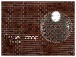 Sims 3 — Ceiling Lamp Street Life by Kiolometro — Street life, bold and strong. Your Sims enjoy their new furniture.