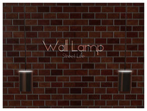Sims 3 — Wall Lamp Street Life by Kiolometro — Street life, bold and strong. Your Sims enjoy their new furniture.