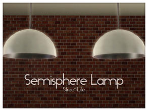 Sims 3 — Semisphere Ceiling Light Street Life by Kiolometro — Street life, bold and strong. Your Sims enjoy their new