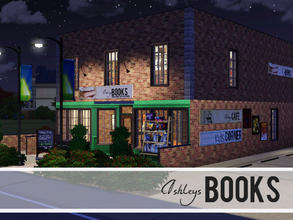 Sims 3 — Ashleys Books by sims_freak_2008 — Come and visit Ashleys books for a great atmosphere of books and a cafe.