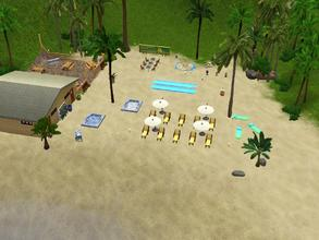Sims 3 — Sunset Beach by Silerna — Sunset Beach is large beach lot where your sims can relax and have fun! They can also