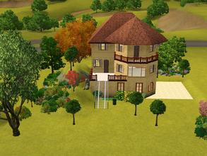 Sims 3 — Western lane 5 *unfurnished* by Silerna — Western lane 5 is nice meditarrean/french/spanish lot for your sims.