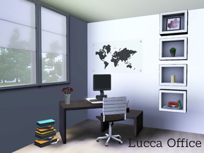 Sims 3 — Lucca Office by Angela —  A small Office set. Made as part of the Lucca series.