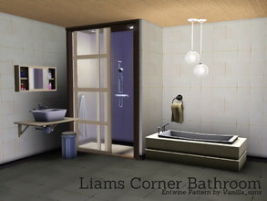 Sims 3 — Liams Corner Bathroom by Angela — The final set in the Liams Corner Series is here, the Bathroom! This set