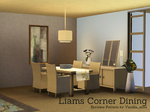 Sims 3 — Liams Corner Dining by Angela — Liams Corner now also as Diningroom. Set contains: Table, Chair, seperate