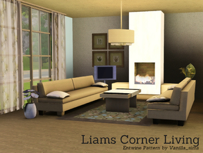 Sims 3 — Liams Corner Living by Angela — Liams Corner livingroom. Set contains: Sofa, Fireplace (no slots, but you can