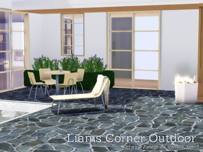 Sims 3 —  Liams Corner Outdoor by Angela — Liams Corner Outdoorset. Meshes are made by me, the pattern on the Dropped