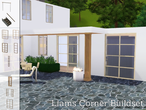 Sims 3 — Liams Corner Buildset by Angela — Liams corner Series now also has a buildset. The set includes: 2 x 2 tiled