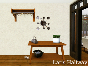 Sims 3 — * FREE* Latis Hallway by Angela — Now also the Latis Hallway. Set contains: Sidetable, Bag (deco only), Shoes