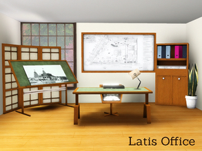 Sims 3 — Latis Home Office by Angela — Latis now also as a home office. Set contains 6 new meshes which are: Chair, Desk,