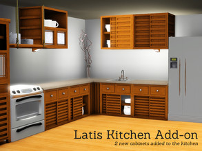 Sims 3 — Latis Kitchen Add On Cabinets by Angela — 2 uppercabinets to add to the Latis Kitchen Set. These will not
