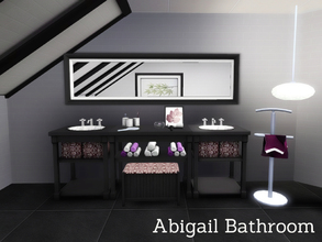 Sims 3 — Abigail Bathroom by Angela — A new series, starting with the Bathroom.. Set contains: Bath, Sink with added