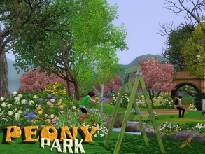 Sims 3 — FREE - Peony Park by fredbrenny — Peony Park is the park that features on TSR's Spring banner on Facebook. Sims