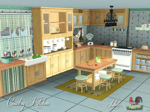Sims 3 — Country Kitchen by Lulu265 — Have a yen to live in the country. Why not use this rustic kitchen in your home.