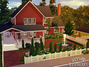 Sims 3 — Raspberry _Furnished_ by ayyuff — 30x30 Fully furnished and decorated house with 3 bedrooms,2 baths..