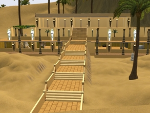 Sims 3 — Temple of Hatshepsut by Silerna — Temple of Hatshepsut is a cultural lot for the Egyptian fans in Al Simhara.