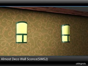 Sims 3 — Almost Deco Wall Sconce(SIMS2) by xiNightXx2 — The Almost Deco brings a touch of class to any environment,