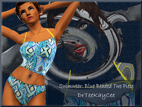Sims 3 — Blue Beaded Swimwear by drteekaycee — Available through the Spring Up Collection is this Vibrantly colored