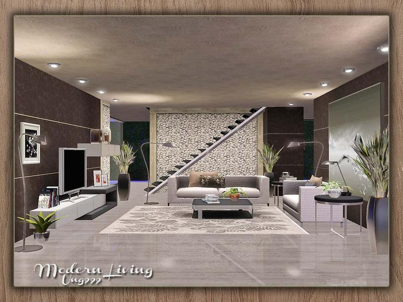 Ung999 39 s modern living for 3 star living room chair sims