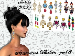 Sims 2 — Accessories Collection - part 6 - by BBKZ — Beautiful earrings for your Sim-ladies. No EP required. FREE mesh by