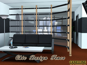 Sims 3 — Chic Design Fence by Canelline — Very modern fence, chic and design, that can be used as a room divider. It has