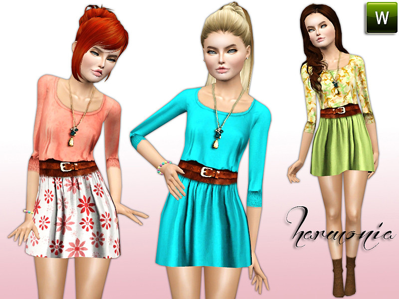 My Sims 3 Blog: Tiered Prom Dress for Teen to Adult Females by Lauren