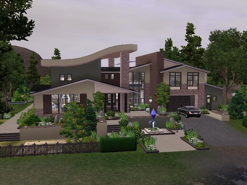 Simsjasper's Modern lakeside mansion