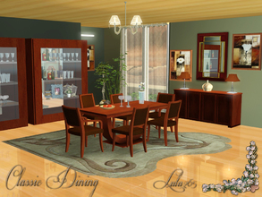 Sims 3 — Classic Dining by Lulu265 — Classic, simple yet elegant. This versatile dining set will fit in any home. Fully