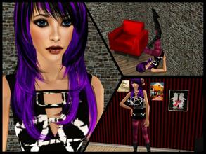 Sims 2 — Rose by blueeyes58972 — This is Rose. She is punk teen for your game. Enjoy :)