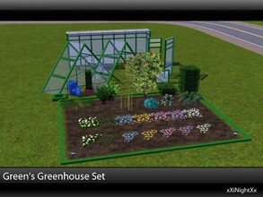 Sims 3 — Green's Greenhouse Build Set by xiNightXx2 — Green's Greenhouse is a garden build set for sims 3. This set