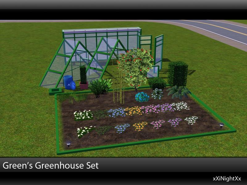 Xinightxx 39 s green 39 s greenhouse build set for Indoor gardening sims 4