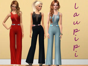 Sims 3 — Elegant Jumpsuit by laupipi2 — Hi! I've just made this new outfit! I love this type of clothes, so elegant and