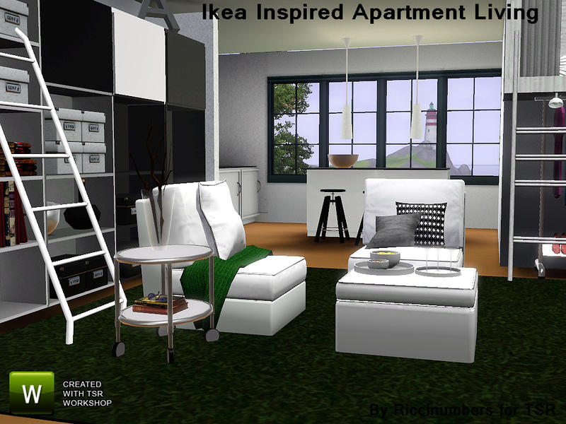 Thenumberswoman 39 s ikea inspired apartment living for 3 star living room chair sims