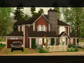 Sims 3 — Ian by lilliebou — Hi ! This familial house is perfect for a family of about 5 Sims. First floor: -Garage
