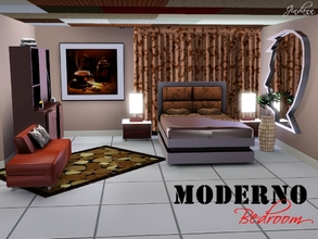 Sims 3 — Moderno Bedroom Set by Jindann — Moderno Bed Room is a perfect way to make your house specially bedroom looks