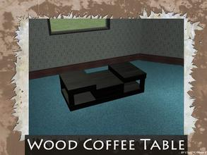 Sims 2 — Wood Coffee Table by staceylynmay2 — Coffee table mesh. Dark black wood. No EP is needed. May be recoloured.