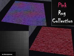 Sims 2 — Pink Rug Collection by staceylynmay2 — Two pink rugs. Rainbow and Pink fluffy. You will need my mesh for the