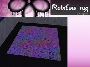 Sims 2 — Rainbow Rug by staceylynmay2 — Rainbow rug. you will need my rug mesh.