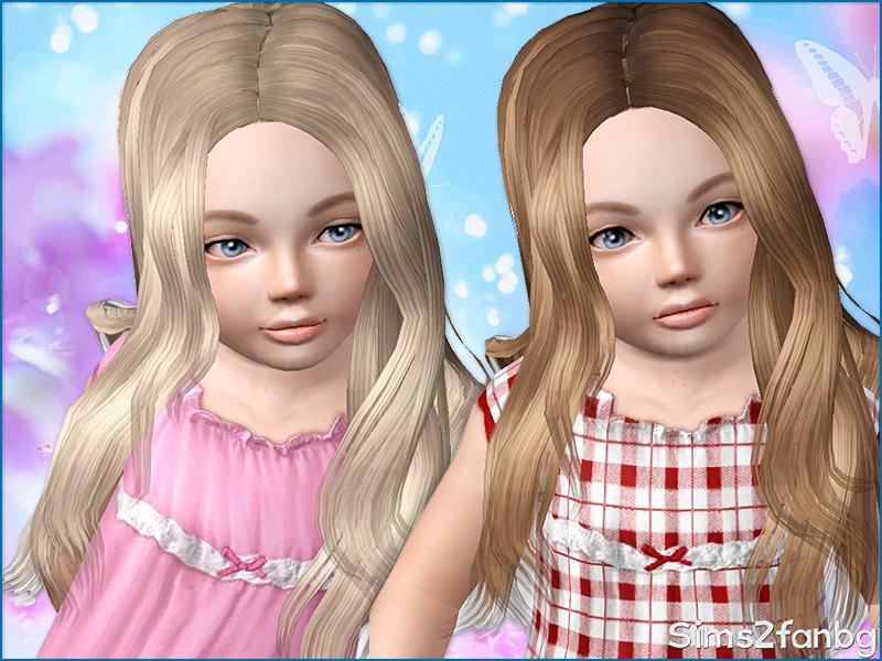 sims2fanbg's Long hair 12 - set