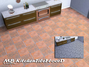 Sims 3 — MB-KitchenTileFloorD by matomibotaki — MB-KitchenTileFloorD, matching floor tile for - KitchenTileD - with 3