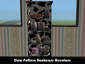 Sims 2 — Cow Pattern Bookcase by staceylynmay2 — This is a recolour of chez moi (bookcase) teen bedroom from phoenix
