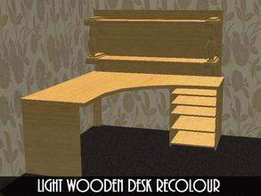 Sims 2 — Light Wooden Desk Recolor by staceylynmay2 — Light wooden desk recolour. Will need my mesh for it to show up in