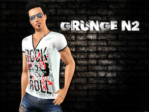Sims 3 — Grunge N2 by saliwa — Fashionable and Trendy Top Set for your male sims.