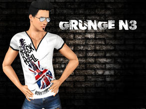 Sims 3 — Grunge N3 by saliwa — Fashionable and Trendy Top Set for your male sims.