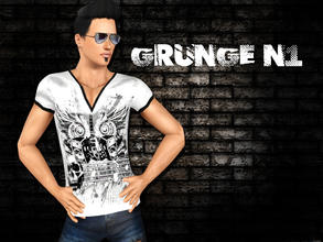 Sims 3 — Grunge N1 by saliwa — Fashionable and Trendy Top Set for your male sims.