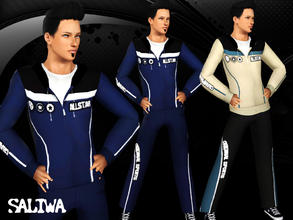 Sims 3 — AllStar Top by saliwa — Athletic,Sleepwear Set for your sims with 4 recolor channels. Enjoy.