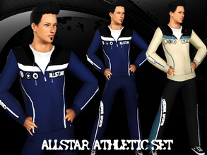 Sims 3 — AllStar Athletic Set by saliwa — Athletic,Sleepwear Set for your sims with 4 recolor channels. Enjoy.