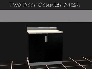 Sims 2 — Two Door Counter Mesh by staceylynmay2 — black and white two door counter mesh