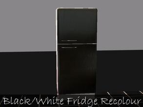 Sims 2 — Black And White Fridge Recolour by staceylynmay2 — black and white fridge recolour. Thanks to steffor for mesh.